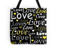 Yellow love pattern Tote Bag