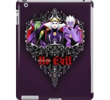 Three Wise Villains (Purple) iPad Case/Skin