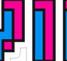 striche text schrift pixel gamer 8 bit cool design retro alt look gold vip wichtig person  Sticker