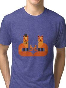 Cute Fox Family Tri-blend T-Shirt
