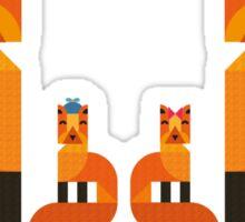Cute Fox Family Sticker