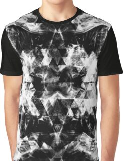 Electrifying black and white sparkly triangle flames Graphic T-Shirt