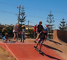 At the skate park Yamba NSW Australia by Margaret Morgan (Watkins)