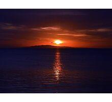 Bleeding sunset Photographic Print