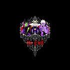 Three Wise Villains (black) by SwanStarDesigns