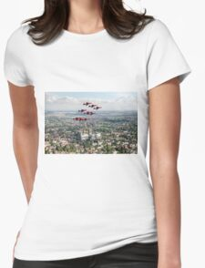 Red Arrows over Lincoln Womens Fitted T-Shirt