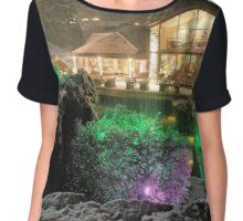 Midnight Snow - Langdale. Chiffon Top
