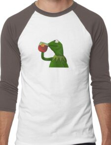 Funny Kermit That's None Of My Business Men's Baseball ¾ T-Shirt