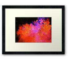 Flame Nebula Framed Print