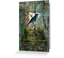 Indoor Garden with Bird Greeting Card
