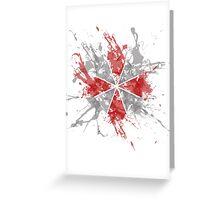 Resident Evil Umbrella Splatter Design Greeting Card
