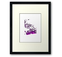Purple Smoke Framed Print