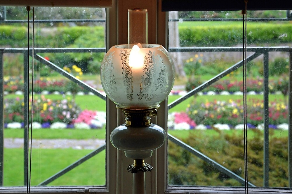 Muckross gardens through the window by Arie Koene
