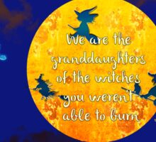 We are the granddaughters of the witches you weren't able to burn... Sticker