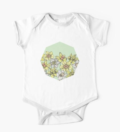 Field of Daffodils One Piece - Short Sleeve