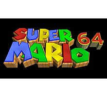 SUPER MARIO 64 - classic 90s Nintendo game logo Photographic Print