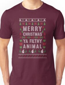 Merry Christmas Ya Filthy Animal T-Shirt Unisex T-Shirt
