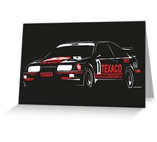 Ford Sierra RS500 Cosworth Touring Car Greeting Card