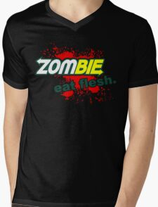 Zombie - Eat Flesh Mens V-Neck T-Shirt