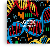 geek monkey  Canvas Print