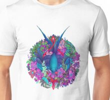 Bird and blossoms color Unisex T-Shirt
