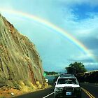 "Chasing Rainbows..  ON HONOALI""IPLANI HWY #30...READY FOR THE TUNNEL by WhiteDove Studio kj gordon"