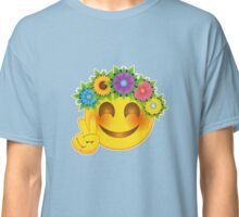 Smiley Hippie Flower Child Emoticon Classic T-Shirt