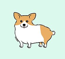 Cute Corgi Puppy Dog by zoel