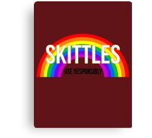 Don't Skittle & Drive Canvas Print