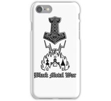 Black Metal War - Mjolnir iPhone Case/Skin
