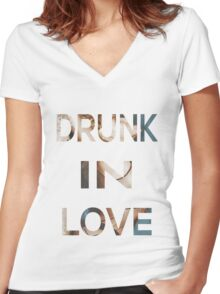 Drunk In Love Women's Fitted V-Neck T-Shirt