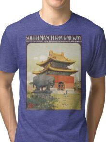 Vintage poster - South Manchuria Railway Tri-blend T-Shirt