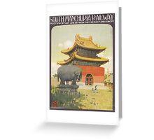 Vintage poster - South Manchuria Railway Greeting Card