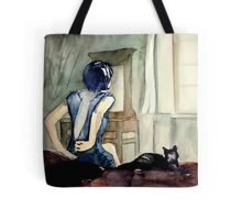 maybe she was more cat than human, she thought Tote Bag