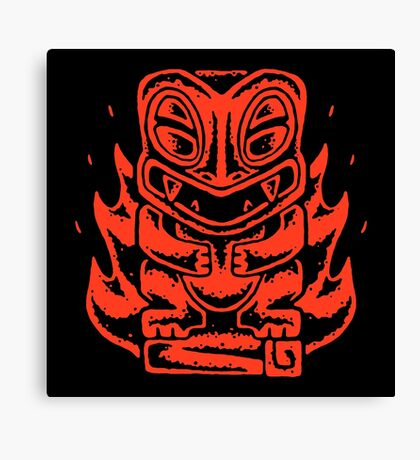 Fire Tikimon V2 Canvas Print