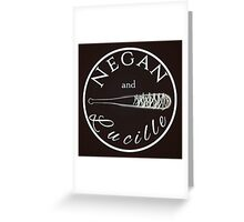 Negan and Lucille Greeting Card