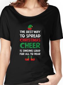 Christmas Cheer Elf Movie T-Shirt Women's Relaxed Fit T-Shirt