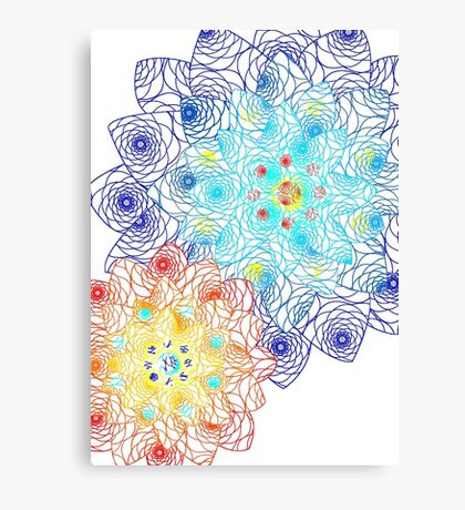 Laced Flowers Canvas Print