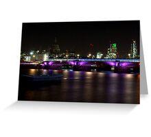 Black Friar Bridge By Night Greeting Card