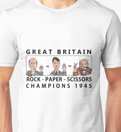 Rock Paper Scissors Champions Unisex T-Shirt