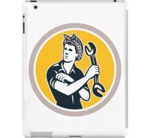 Female Mechanic Wrench Circle Retro iPad Case/Skin