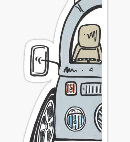 VW Bay Window Molly The Camper Van Sticker
