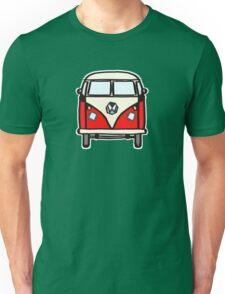 Red White Campervan (slightly cubist) Unisex T-Shirt