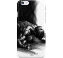 Frustration - Conté Drawing (Emotions) iPhone Case/Skin