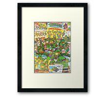 Vintage Comic Teenage Mutant Hero Turtles Framed Print