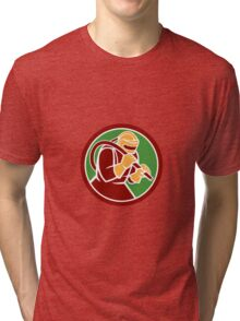 Sandblaster Sandblasting Hose Circle Retro Tri-blend T-Shirt