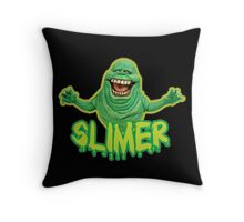 Slimer Throw Pillow