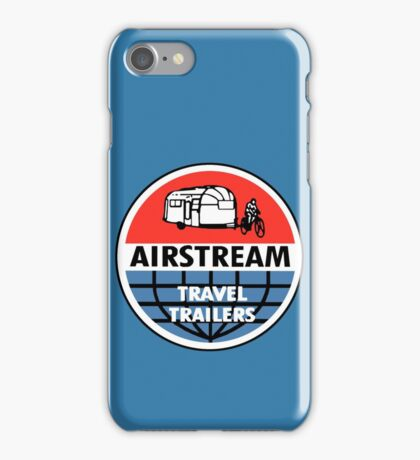 Airstream Travel Trailer Vintage Decal iPhone Case/Skin