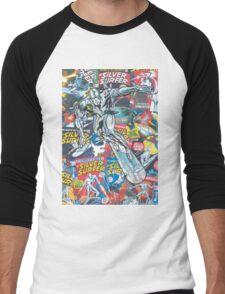 Vintage Comic Silver Surfer Men's Baseball ¾ T-Shirt