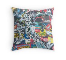 Vintage Comic Silver Surfer Throw Pillow